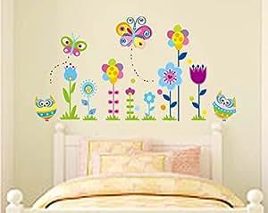 Ufengke b hos de dibujos animados mariposas y flores for Pegatinas habitacion nino