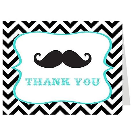 Amazon Com Thank You Cards Little Man Mustache Bowtie Baby
