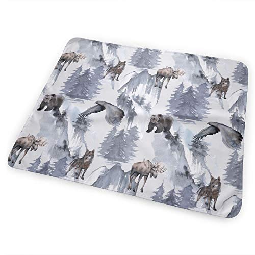 Eagle Bear Elk and Wolf Pattern Newborn Toddler Baby Changing Pad Liners