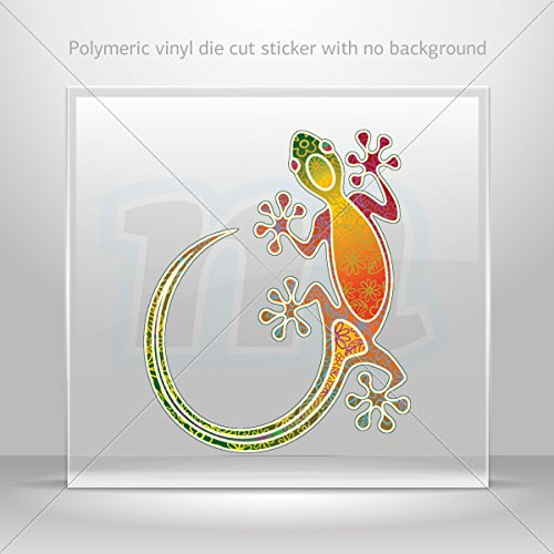 Decal Colorful Lizard Gecko Tablet Laptops Weatherproof Sports Bikes (4 X 3.30 In)