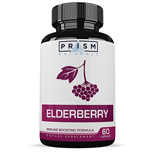 Elderberry Capsules :: Supports Immune System Health :: Encourages Strong Skin & Nails :: Promotes Healthy Digestion :: One Month Supply - 60 Capsules :: Prism Naturals