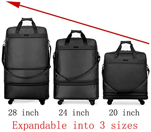 Hanke Expandable Foldable Suitcase Luggage Rolling Travel Bag Duffel Garment Tote Bag for Men Women by Hanke (Image #2)