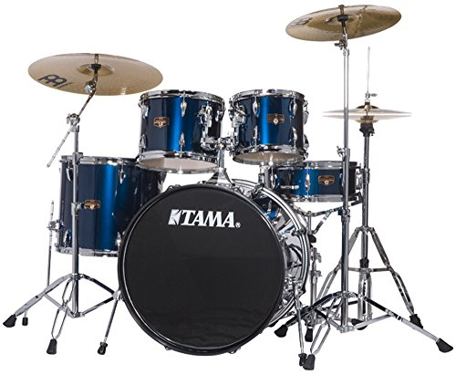 Tama Imperialstar 5-Piece Complete Drum Kit with Meinl HCS Cymbals – FREE PROMO CYMBAL PACK – Midnight Blue
