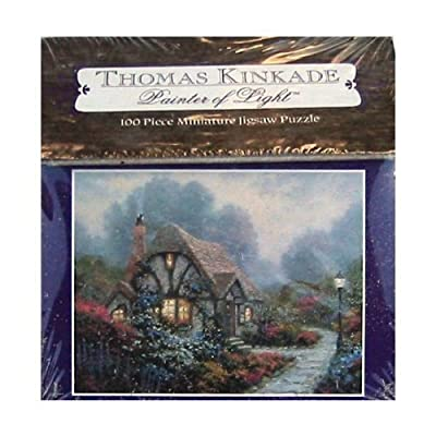 Thomas Kinkade Painter Of Light 100pc Miniature Puzzle Chandlers Cottage By Ceaco