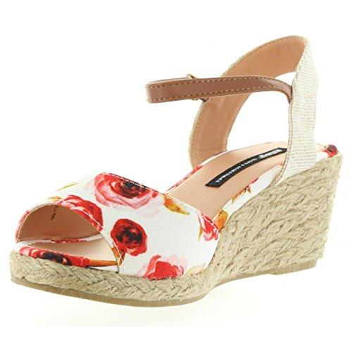Sandalias de Mujer MTNG 53521 C30482 ROSAS BLANCO