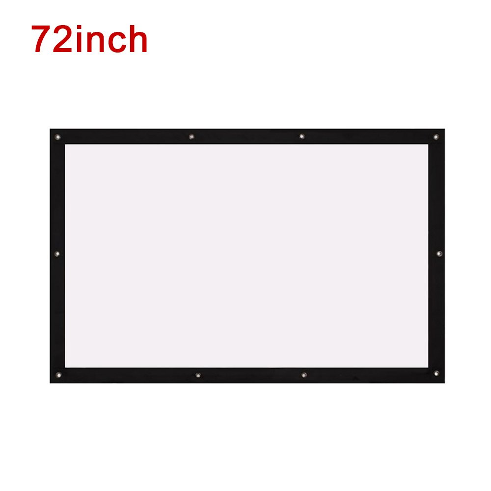 BigFamily Projector Screen, 72'' Inches 4:3 Portable HD Indoor Outdoor Home Cinema Theater Projection Screen (Anti-Crease, Easy to Clean)