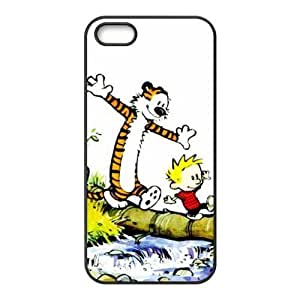 Fashion Calvin and Hobbes Personalized iPhone 5 5S Rubber Silicone Case Cover