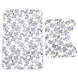 Vi.yo 2 Pieces/Set Bathroom Mat Thicker Coral Velvet Non-slip Mat and Toilet Carpet Stone Pattern 50 * 80CM+45 * 50CM Random Color