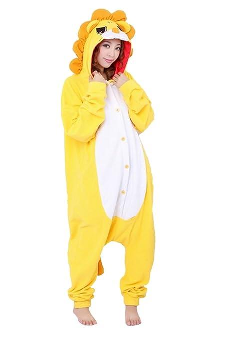Emmarcon - Disfraz de carnaval halloween pijama cálido de animales kigurumi cosplay zoológico onesies L/