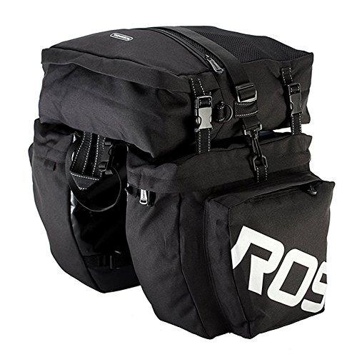 Alforjas para bicicleta bolsa impermeable–3en 1Multi función mensajero alforjas para bicicletas, bicicleta asiento...