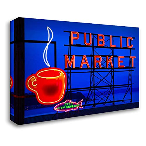 Public Market Sign I 40x28 Gallery Wrapped Stretched Canvas Art by Stefko, Bob