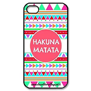Hakuna Matata art pattern Hard Snap Phone Case Cover For For iphone 4,4S Case FKGZ503489