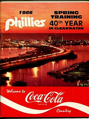 Philadelphia Phillies MLB Spring Training Game Program 1986-