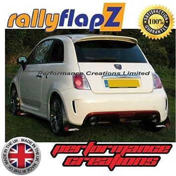 rallyflapZ Guardabarros para 500 (2008 Negro 3mm PVC: Amazon.es: Coche y moto