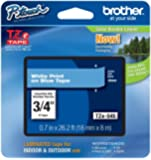 Brother Laminated White on blue 3/4 Inch Tape - Retail Packaging (TZe545) - Retail Packaging