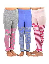 TeeHee (Naartjie) Kids Girls Fashion Cotton Leggings (Footless Tights) 3 Pair Pack