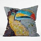 Deny Designs Elizabeth St Hilaire Nelson Toucan Dance Throw Pillow, 26 x 26