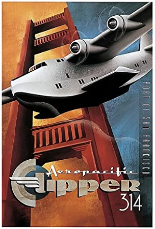 Clipper 314  by Micheal Kungl Canvas Print 24 x 36 Open Edition Airplane Print