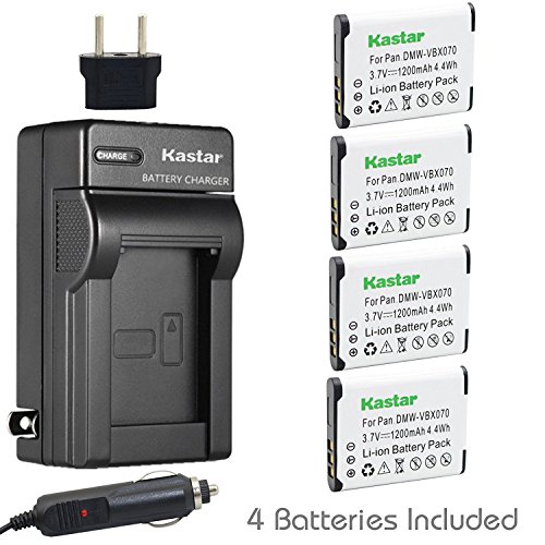 (Kastar VW-VBX070 Battery (4-Pack) and Charger Kit for Pentax D-Li88, Panasonic VW-VBX070, Sanyo DB-L80, DB-L80AU Battery and Digital Cameras (Search your Camera Model down Description))