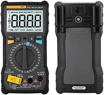 BXU-BG Digital Electronic Multimeter, V7 Portable Handheld Digital Multimeters, Current Voltage Resistance Capacitance Tester