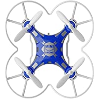 Owill FQ777-124 Micro Pocket Drone 4CH 6Axis Gyro Switchable Controller Enjoy Flying Anywhere Anytime (Blue)