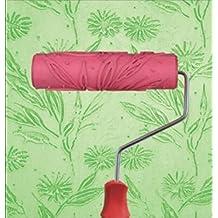 "Bueer 7"" DIY Patterned Paint Roller Decorative Rubber Roller with Plastic Handle (Model EG048)"