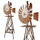 Red Carpet Studios 5-Foot Rustic Windmill, Rooster