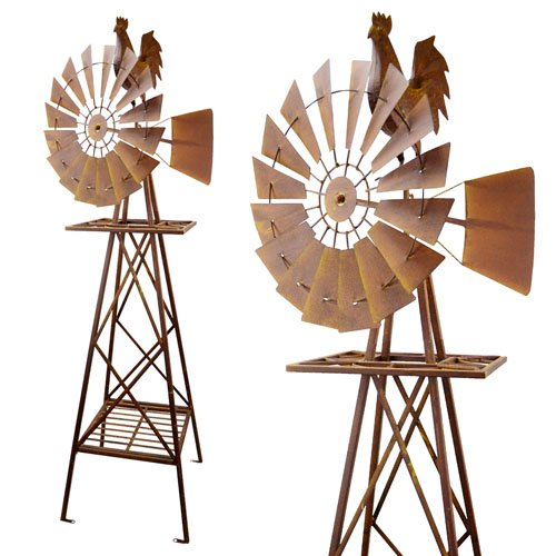 Red Carpet Studios 5-Foot Rustic Windmill, Rooster by Red Carpet