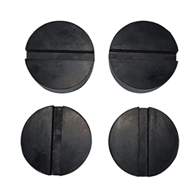 Fasmov 4-Pack of Jack Pads Rubber Protector Slotted Frame Rail Protector: Automotive
