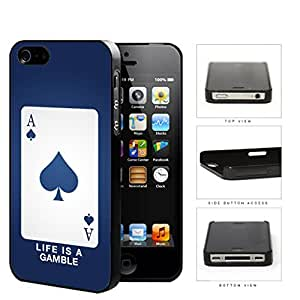 Ace Of Spade Blue Playing Card Hard Plastic Snap On Cell Phone Case Apple iPhone 4 4s