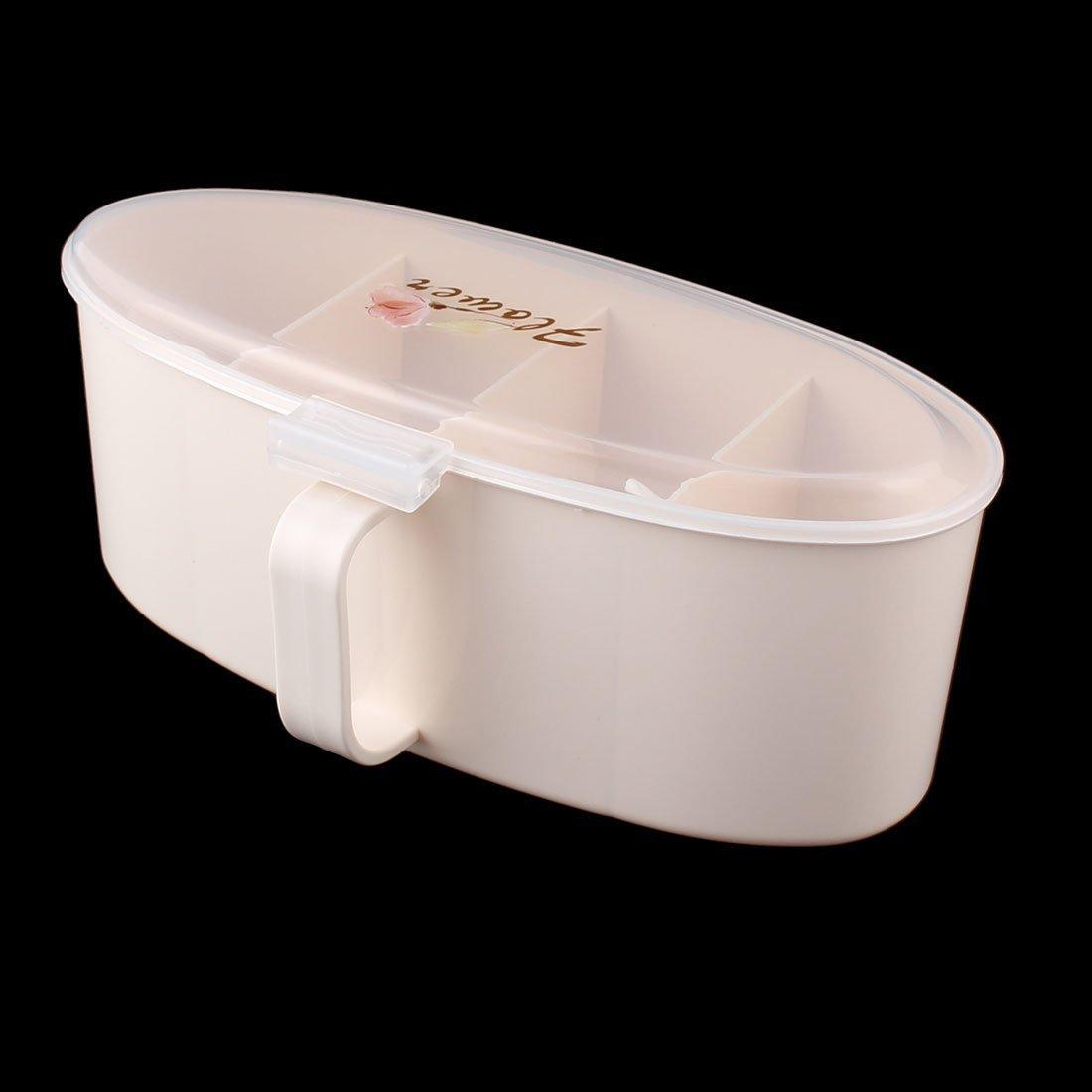 Amazon.com | eDealMax plástico Domésticos de Cocina 4 compartimientos condimento Box Contenedor Condimentos Especias: Condiment Pots