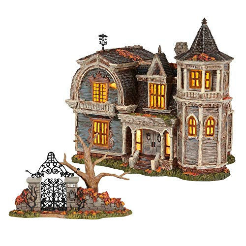 Department 56 The Munsters Village Series 1313 Mockingbird Lane, Set of 2 Includes gate