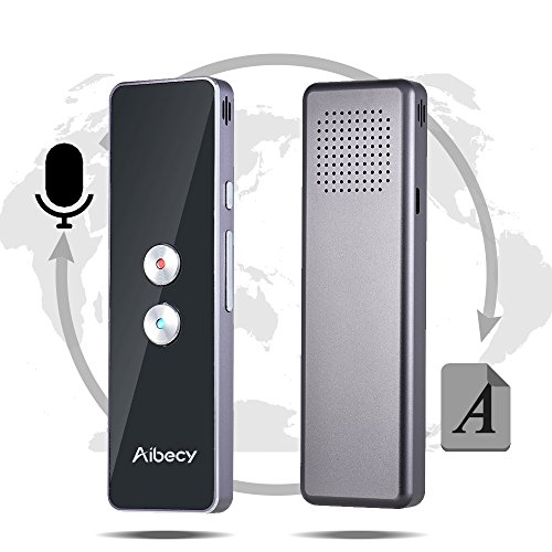 Aibecy Smart Language Translator Real-time Multi Speech/ Text Translation Device with APP for Business Travel Shopping English Chinese French Spanish Japanese Arabic