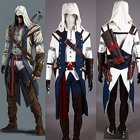 JW cosplay Anime ropa/Assassin s Creed 3 traje de Assassin Azul ...