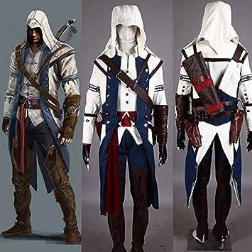 JW cosplay Anime ropa/Assassin s Creed 3 traje de Assassin ...