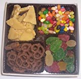 Scott's Cakes Large 4-Pack Assorted Jelly Beans, Pectin Fruit Gels, Peanut Brittle, & Dark Pretzels