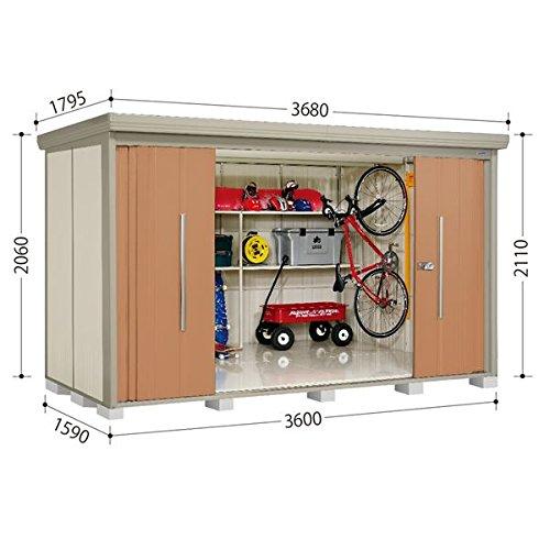 タクボ物置 ND/ストックマン ND-3615 一般型 標準屋根 『屋外用中型大型物置』 トロピカルオレンジ B00BNL8D5O