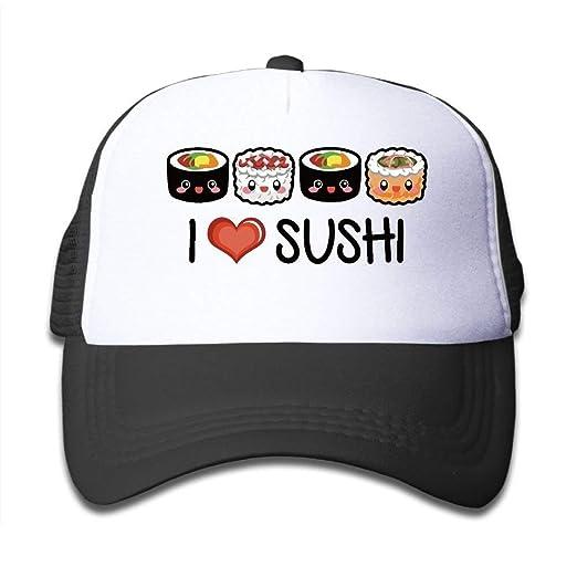 Kids I LOVE Sushi Trucker Mesh Baseball Cap Hat Trucker Hats Pink