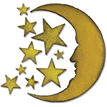 Sizzix Bigz Die by Tim Holtz, 5.5 by 6-Inch, Crescent Moon and Stars