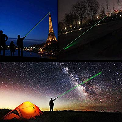 ANSERBUY Green Laser Pointer High Power Hunting Rifle Scope Sight Laser Pen, LED Interactive Baton Funny Laser Pointer Toys for Cats/Dogs, Remote Laser Pointer Travel Outdoor Flashlight