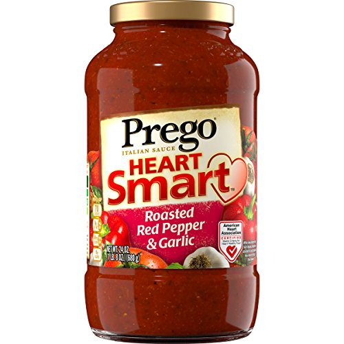 Prego Italian Pasta Sauce, Heart Smart Roasted Red Pepper & Garlic, 24 Ounce (Packaging May - Prego Heart