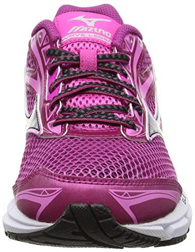 Running Legend Fuchsia W Black Shoes Mizuno Silver Purple Red Wave 4 Women's xFaCwaXgqT