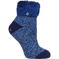 Heat Holders Warm Winter Thermal Lounge Socks (Navy/Blue Twist) UK 4-8 US 5-9