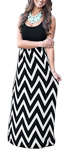long black and white maxi dress - 7