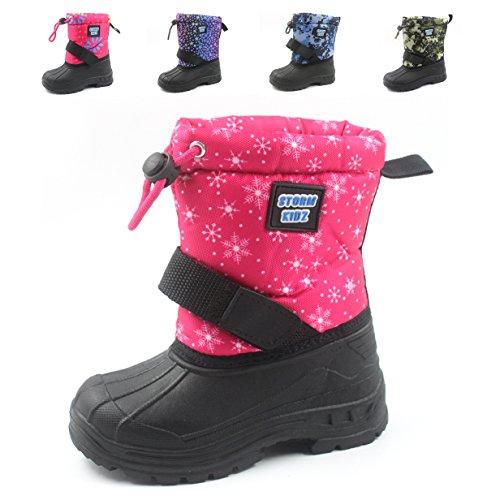 Winter Snowflake Snow (Storm Kidz 3104 Pink Snowflakes Toddler 8)