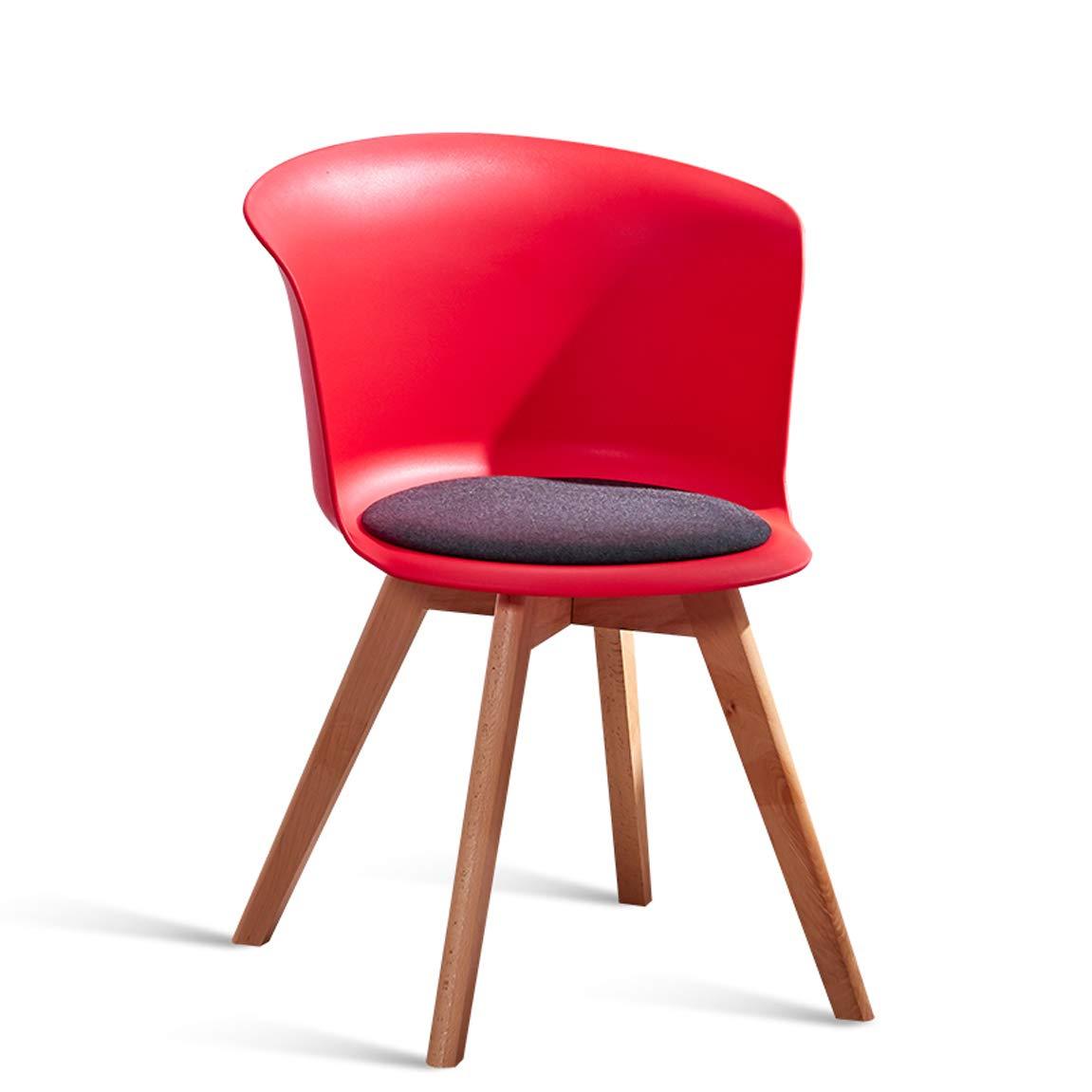 Red GLJ Chair European Dining Chair Modern Desk Stool Backrest Multi color Optional 44x44x75.5cm Bar Stool (color   Red)