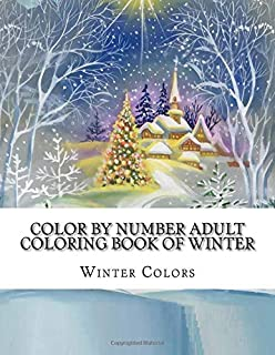 Color By Numbers Coloring Book for Adults Nice Little Town: Adult ...