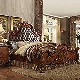 Eastern King Bedroom Furniture ACME Dresden Cherry Oak Eastern King Bed