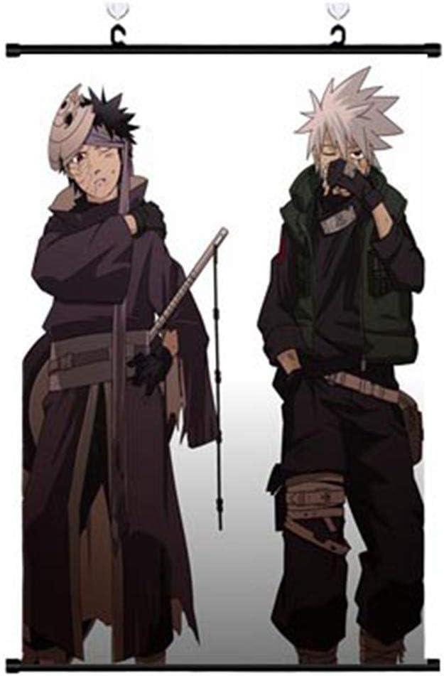 N//A Special /& Kind Naruto Poster en tissu Motif Naruto Anime Peinture murale Motif Naruto Anime Personnages Uchiha Itachi Sasuke 30 x 45 cm H01