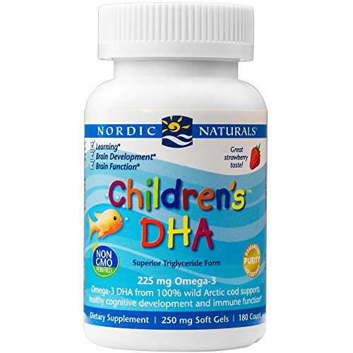 Nordic Naturals - Children's DHA, Healthy Cognitive Development and Immune Function, 180 Soft Gels (FFP)